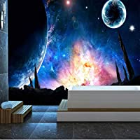 Xueshao 写真壁紙宇宙スタースカイ壁画寝室リビングルームソファテレビ背景壁画ウォールペーパー家の装飾-280X200Cm