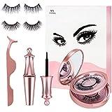 Magnetic Lashes and Eyeliner Kit - Magnetic Eyelashes Set False Lashes with Tweezers (2 Styles)