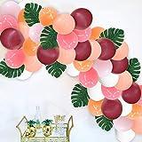 パーティーピンクバルーンセット 120個 カラフル ミックス 女の子 誕生日 結婚式 ウェディング ロマンチック 風船 人工葉 結びツール アーチガーランド