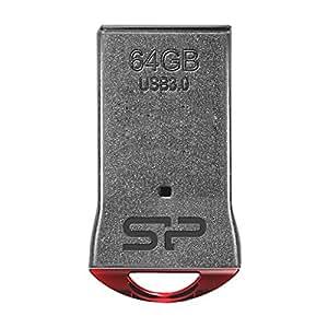 シリコンパワー 超小型 USBメモリ 64GB USB3.0 防水 防塵 耐衝撃 Mac対応 永久保証 Jewel J01 SP064GBUF3J01V1R