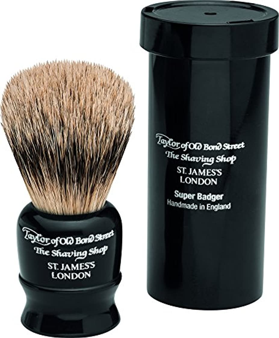 評論家サポートはしごTravel Super Badger Shaving Brush, 8,25 cm, black - Taylor of old Bond Street