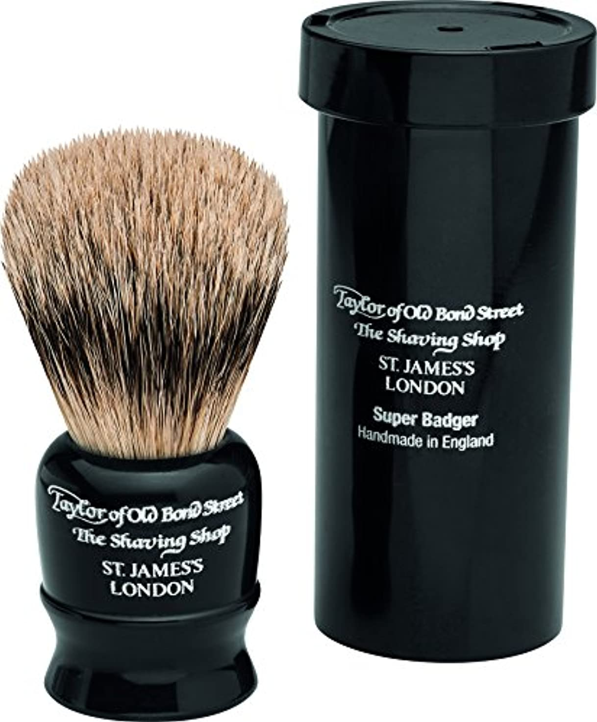 番目本部乱雑なTravel Super Badger Shaving Brush, 8,25 cm, black - Taylor of old Bond Street