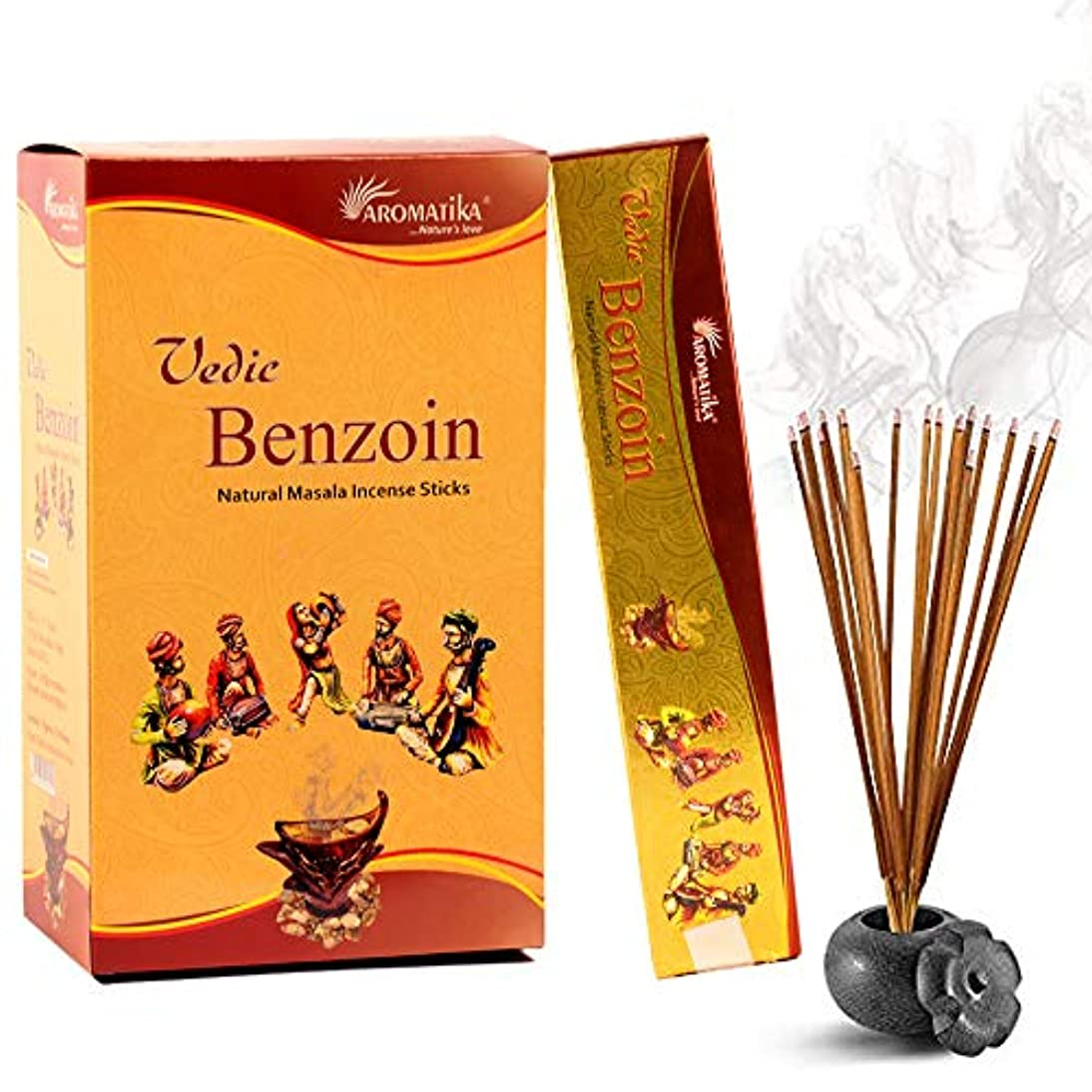 包帯プログラムマーケティングaromatika Benzoin 15 gms Masala Incense Sticks Pack of 12
