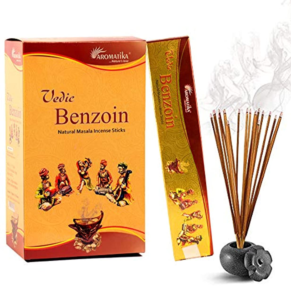 レパートリー通路知的aromatika Benzoin 15 gms Masala Incense Sticks Pack of 12