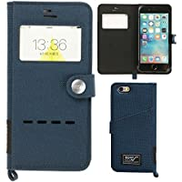 【ROOT CO.】 iPhone7カバー iPhone8カバー 窓付き 手帳型 iPhoneケース 耐衝撃 米軍 MIL規格 Gravity Shock Resist Diary Case. /Window Flip/(ネイビー)(Qi充電非対応)(iPhone7/8兼用・旧パッケージ)