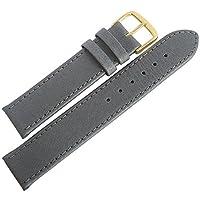 Fluco豚革16mmグレースムースレザーゴールドバックルドイツ腕時計ストラップ