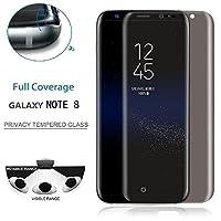 Samsung Galaxy Note 8 6.1対応 強化ガラスフィルム 0.26mm超薄フィルム 疲労を緩和する 視力を保護 眼精疲労低減 スムース防指紋反射防止フィルム 耐衝撃 気泡レス 高透明度 9H硬度 強化ガラスフィルム 全面強化ガラス 指紋防止フィルム 携帯全面保護 フルカバー 3Dフルカバー