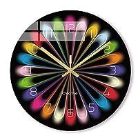 置き時計 掛け時計壁掛け時計 カラフルな創造的なレインボー新しいクォーツ壁時計現代のファンタスティック抽象アートスタイルの壁時計家の装飾/スタイル3 居間 寝室 オフィス壁掛け時計休日の贈り物