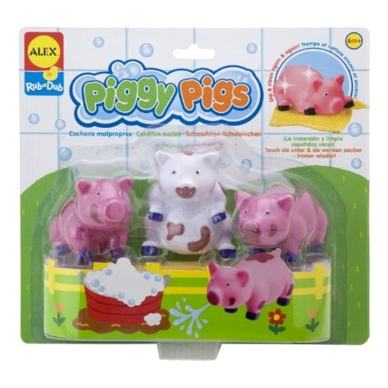 ALEX Toys - Bathtime Fun Rub a Dub Piggy Pigs in the Tub おもちゃ [並行輸入品]