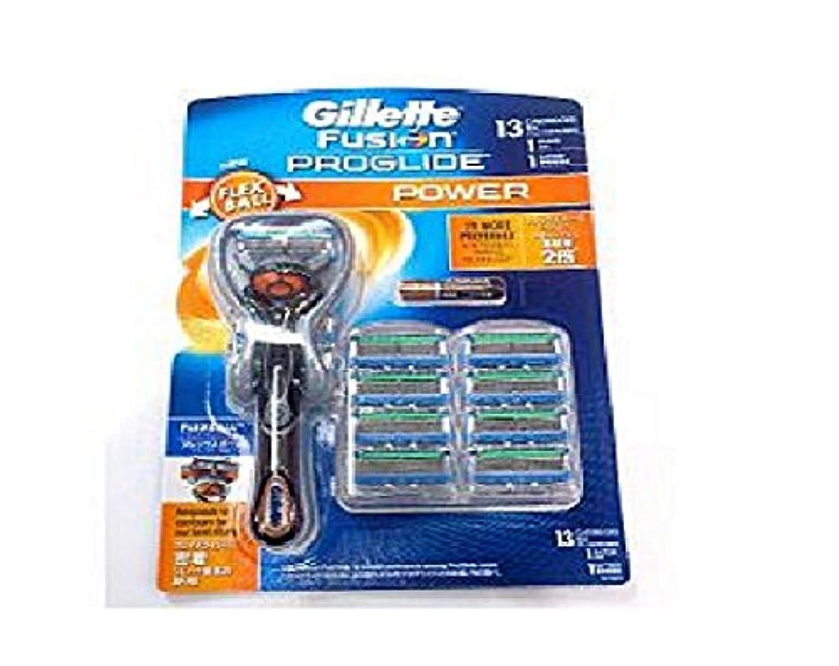 発揮する品買収GILLETTE フュージョンプログライド フレックスボール パワー(電動)タイプ 替刃13個付