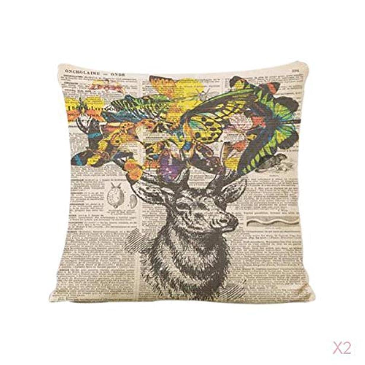 意志に反する暴動バンヴィンテージ家の装飾トナカイリネン枕カバーソファ腰投げクッションカバー