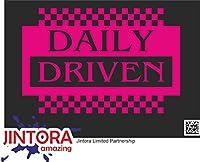 JINTORA ステッカー/カーステッカー - driven daily big - 毎日大きく動く - 191x99 mm - JDM/Die cut - 車/ウィンドウ/ラップトップ/ウィンドウ - ローザ