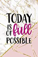 Today Is Full Of Possible: Origami Notebook Journal Composition Blank Lined Diary Notepad 120 Pages Paperback Pink Marble