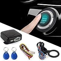 Semoic スマートRFID車の警報システム プッシュエンジン 停止ボタンを開始する ロック点火イモビライザー リモートキーレスエントリーシステム12V付き
