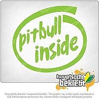 内部のピットブル Pitbull inside 12cm x 11cm 15色 - ネオン+クロム! ステッカービニールオートバイ