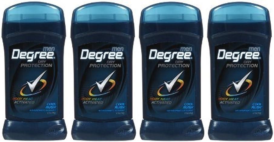 薬局典型的なであることDegree Antiperspirant & Deodorant, Cool Rush - 2.6 oz - 4 pk by Degree [並行輸入品]