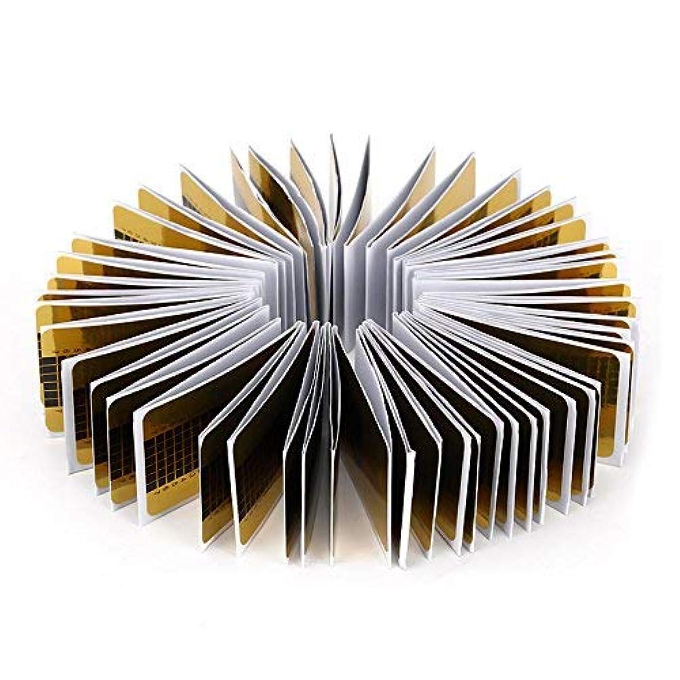 ステープルフェードカビMilent ネイルフォーム 長さだしジェルネイルフォーム プロ用 使い捨て 紙製 100枚入れ