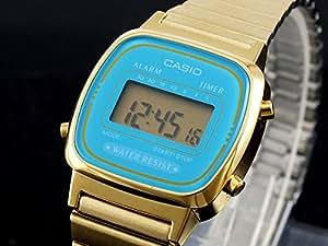 カシオ CASIO クオーツ デジタル レディース 腕時計 LA670WGA-2 ブルー/ゴールド [並行輸入品]