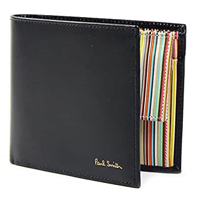 ポールスミス Paul Smith 正規品 財布 二つ折り財布 メンズ ブラック(黒)×マルチストライプ AKXA 1033 W567 B