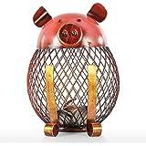 Tooarts 置物 貯金箱 可愛い子豚 手作り アイアン オブジェ インテリア 雑貨 子供の誕生日 恋人 バレンタインデー ウェディングギフト ご家庭の装飾に