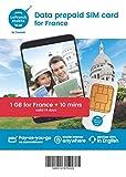フランス LeFrench・プリペイドSIMカード・データ&通話(1GB・14日間) [並行輸入品]
