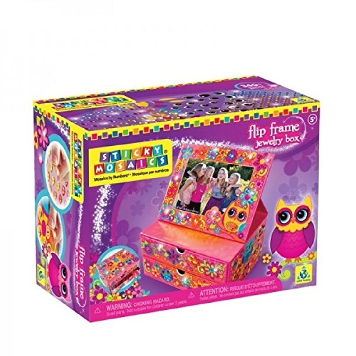 The Orb Factory Sticky Mosaics Flip Frame Jewelry Box by The Orb Factory