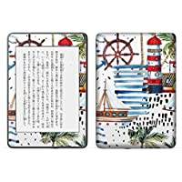 igsticker kindle paperwhite 第4世代 専用スキンシール キンドル ペーパーホワイト タブレット 電子書籍 裏表2枚セット カバー 保護 フィルム ステッカー 015972 海 模様 夏