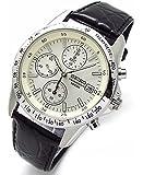 SEIKO クロノグラフ 腕時計 本革ベルトセット 国内セイコー正規流通品 ホワイト SND363P1 [並行輸入品]
