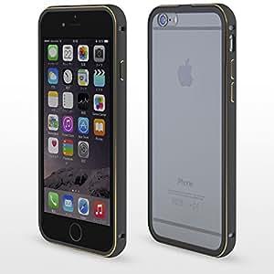 iPhone6 アルミバンパー + 背面保護プレート (ブラック)