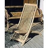 ガーデンチェア 折りたたみ 木製 スライドチェア チーク材