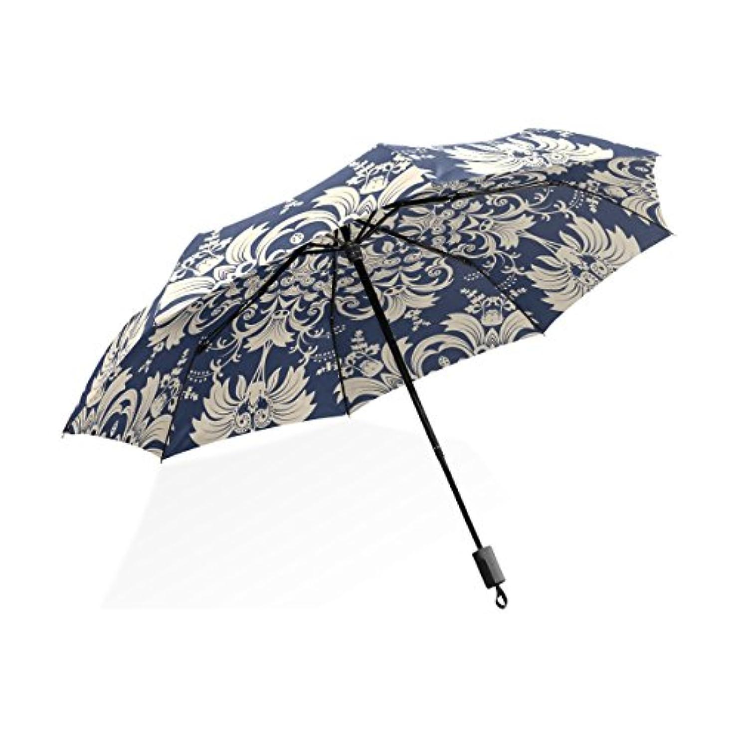 マインド大胆不敵むしゃむしゃHMWR(ヒマワリ) ビンテージ レトロ クラシック 復古風 優雅 エレガント ボヘミア ペイズリー柄 花柄 和柄 和風 レディース 女性用 女の子 三つ折り傘 折りたたみ傘 耐強風 軽量 撥水性 大きい 手動開閉 雨傘 日傘 晴雨兼用 携帯用 かさ