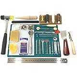 Goldgarden (ゴールドガーデン) レザークラフト 工具 38点 エントリーセット ポンチ 9本つき 道具 一式 (道具セット)