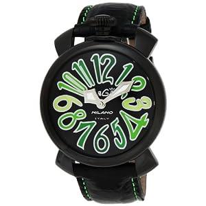 [ガガミラノ]GaGa MILANO 腕時計 マニュアーレ40mm ブラック文字盤 ステンレス/ステンレス(BKPVD) ケース カーフ革ベルト 5022.3-BLK 【並行輸入品】