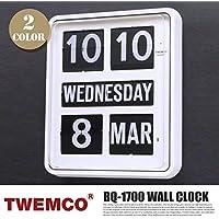 BQ-1700 CLOCK(クロック) パタパタクロック TWEMCO(トゥエンコ) ホワイト