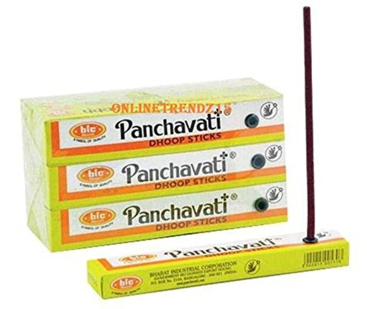 漂流到着検出する2 x 12ボックスPanchavati Dhoop /お香スティック24ボックス – 瞑想とenlightenment-worship Temple