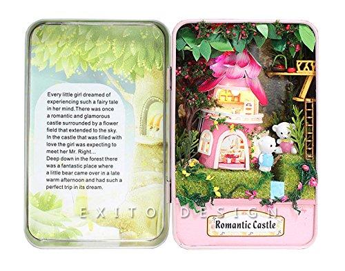 小さな癒し空間 自分だけの BOX ドールハウス (ロマンチック キャッスル)