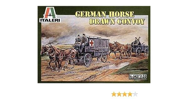 amazon タミヤ イタレリ 6437 1 35 german horse drawn convoy