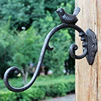 SLH 鋳鉄工芸鍛鉄フック欧州古典的なノスタルジックなスタイルの庭ハンギングバスケットの壁掛け