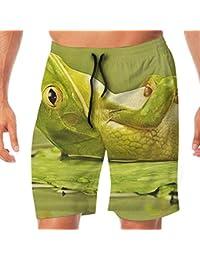 メンズ水着 ビーチショーツ ショートパンツ 太ったカエル スイムショーツ サーフトランクス 速乾 水陸両用 調節可能