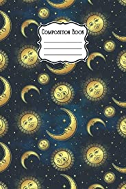 Composition Book: Wide Ruled Paper Moon Notebook Journal / Beautiful Moon Cover / 120 Wide Lined Pages for Kid