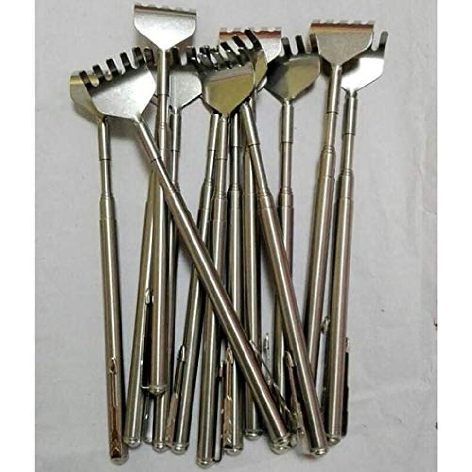 伸縮伸縮式バックスクラッチャーステンレススチール製ポータブル伸縮式ハンディポケットペンクリップバックスクラッチャー