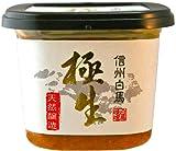米味噌「極生」一年半若味噌(無添加・天然醸造) 500g 信州の米と丸大豆長期醸造 安心の低塩味噌
