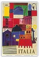 イタリア - ミラノ - ビンテージな世界旅行のポスター によって作成された アレルボ・モローニ c.1963 - アートポスター - 33cm x 48cm