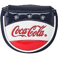 コカ・コーラ ゴルフ マレットタイプパターカバー ホワイト×ネイビー