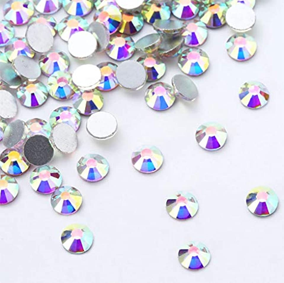 傾く誇張する行政XIULIラインストーン DIY ネイルを飾てと服装使用 高い採光 ホワイトAB ss3-30 (2.0mm ss6(1440粒), AB)