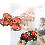 Leoie NIHUI NH010 Mini Drone 2.4G 6-Axis Gyro Headless Mode Remote Control Quadcopter (Red) [並行輸入品]