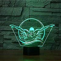 3d水泳ナイトライトテーブルデスクOptical Illusionランプ7色変更ライトLEDテーブルランプXmasホームLove Brithday子供キッズ装飾おもちゃギフト
