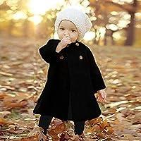 Baby Jackets Clothes 2018 Long Woolen Windbreaker Coats Kids Princess Cloak Button Outwear for Girls Overcoat Clothing