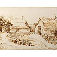 Vincent Van Gogh Two Cottages At Saintes Maries De La Mer Extra Large Art Print Wall Mural Poster Premium XL ヴァンゴッホ聖人大アート壁ポスター
