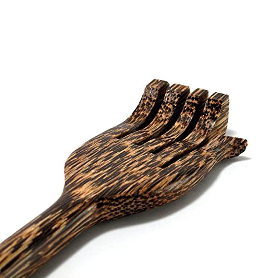 手のひら誇張する要旨MARUKOA - バックスクラッチャー 新しいパームウッド手作りスティック タイボディマッサージ木製ギフト